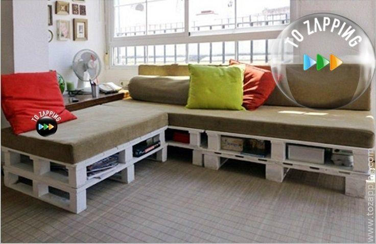 Cómo fabricar un sofá de palets - Tozapping.com | Pinterest