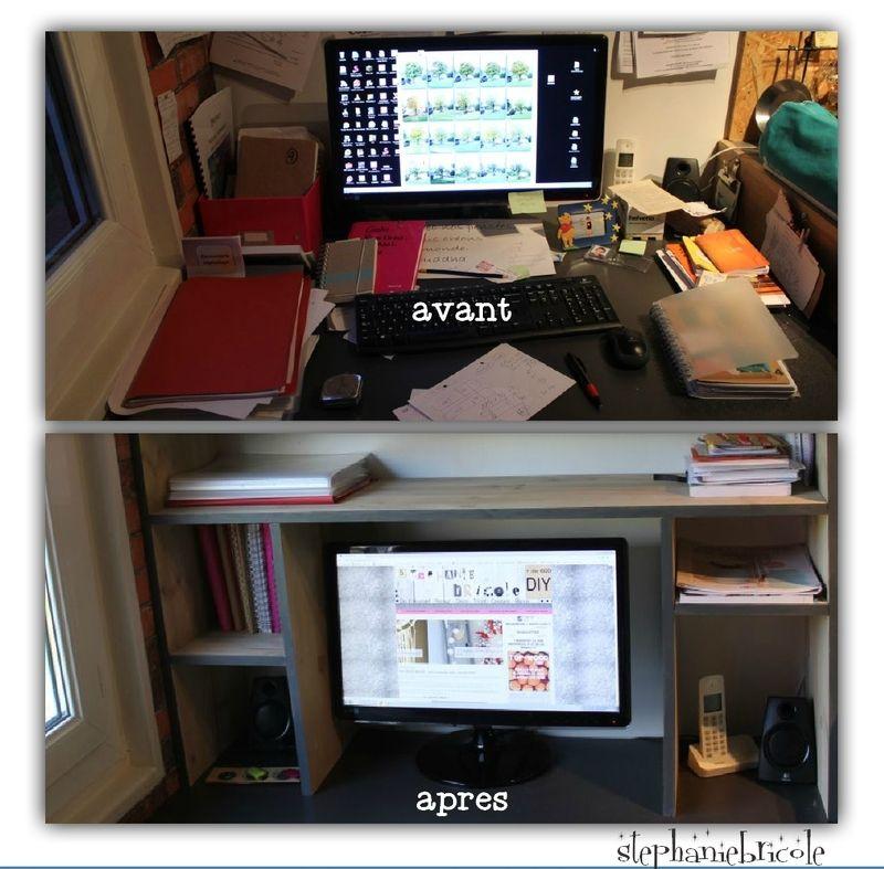 rangement bureau diy Before After Antes e depois Pinterest