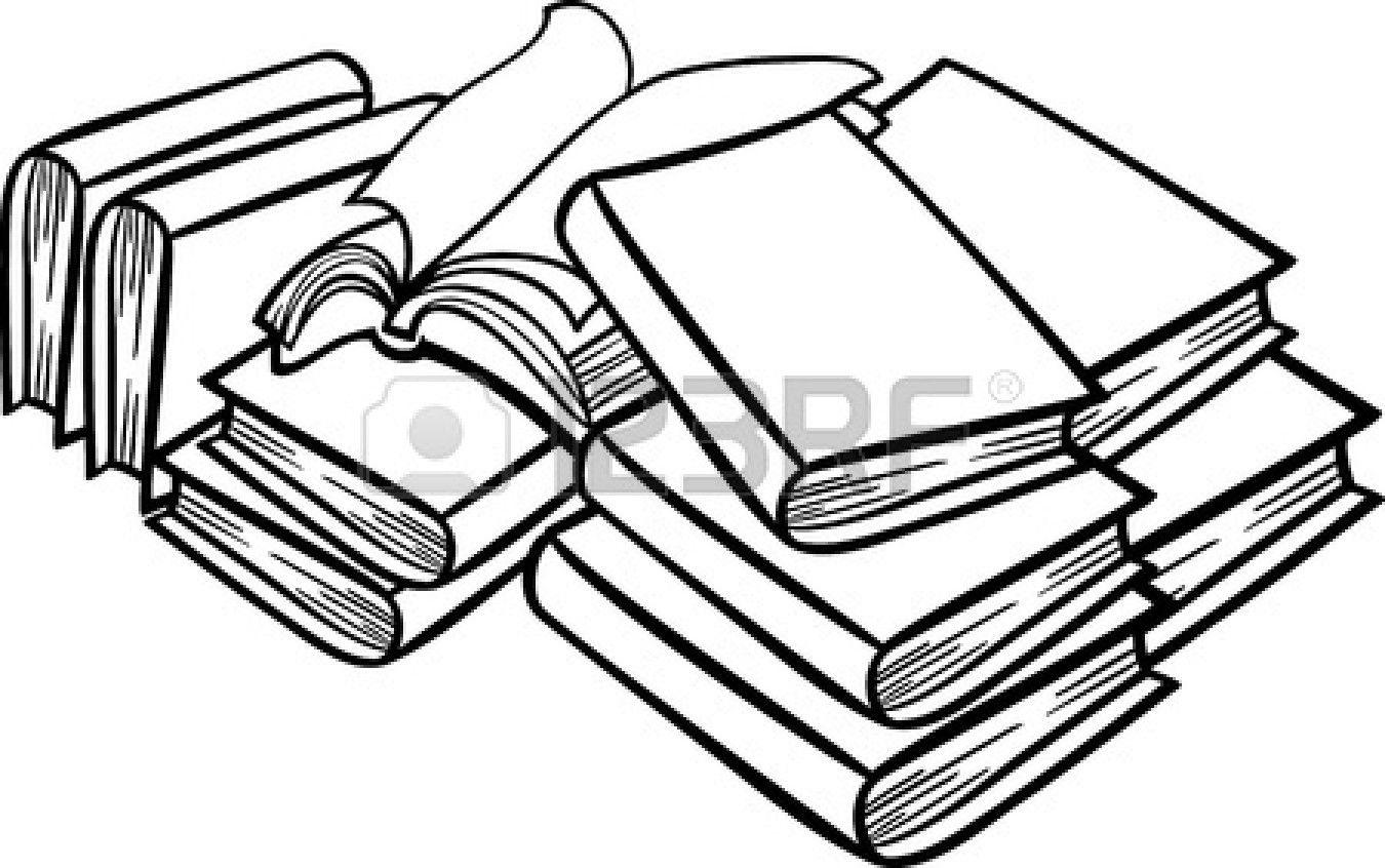 Dessin Bibliotheque Noir Et Blanc