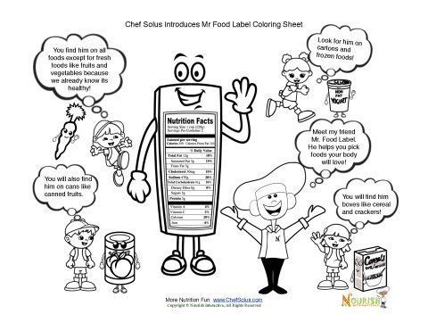 Chef Solus introduces kids to Mr Food Label cartoon FREE