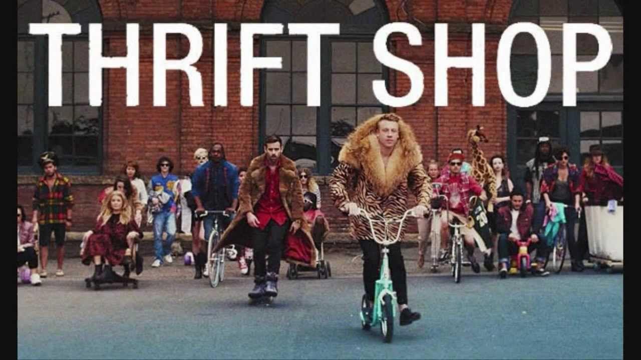Macklemore & Ryan Lewis - Thrift Shop (LYRICS!) HD + ...