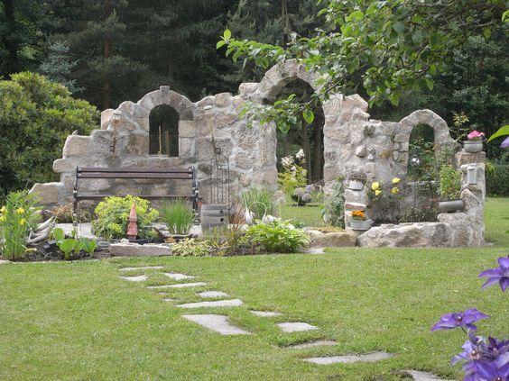 Garten-Deko-Ruine Kingsborough ähnliche tolle Projekte und Ideen - ruinenmauer im garten