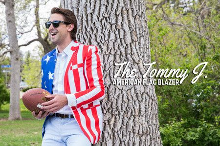9398e091d43c The Tommy J American Flag Blazers