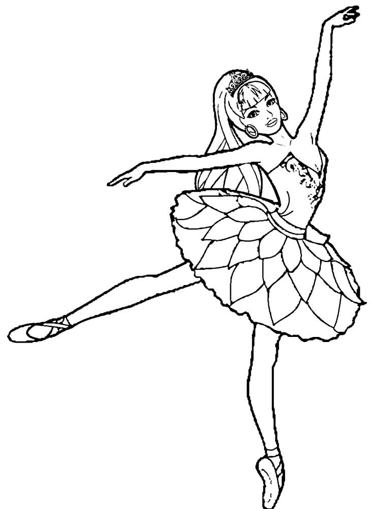 Ballerina In 2020 Ballerina Coloring Pages Barbie Coloring Pages