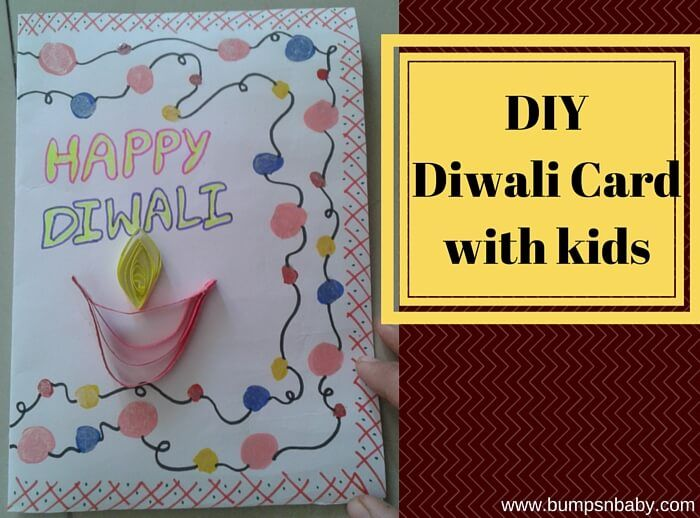 Diwali Greeting Card Making Ideas Part - 43: Diwali Greeting Cards DIY With Toddlers And Kids