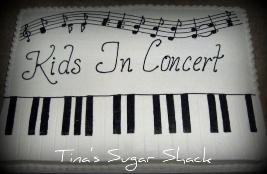 Piano Sheet Cake Birthday Sheet Cakes Music Cakes Piano Recital
