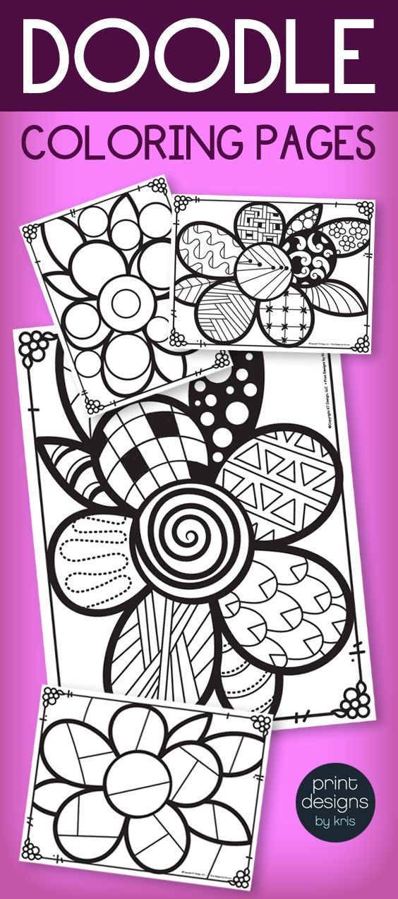 SPRING Activity Pages - Doodle Coloring Pages for SPRING ...