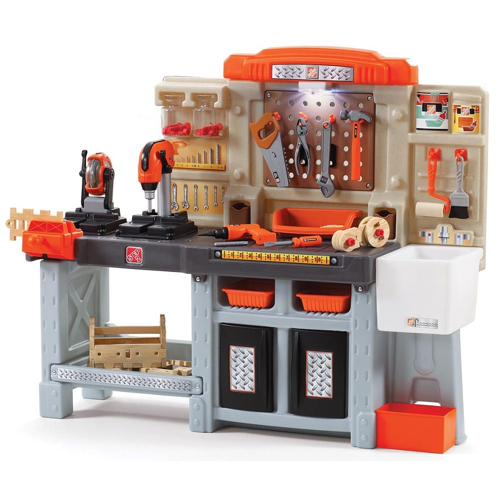 The Home Depot Master Workshop Kids Tool Bench Kids Workbench Kids House