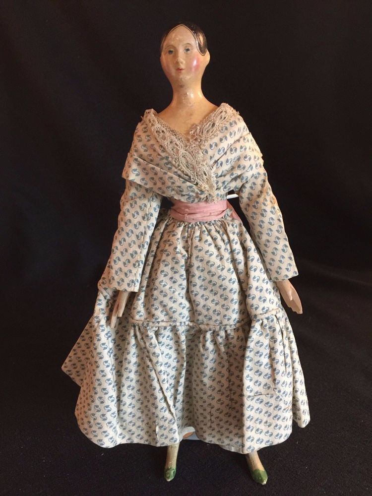 Antique Early German Paper Mache Milliner s Model Lady Doll