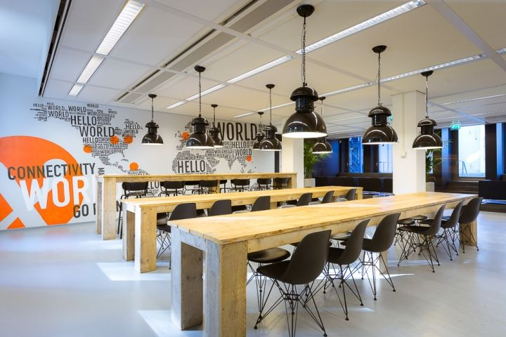Интерьер офиса AMS-IX в Амстердаме – Нидерланды