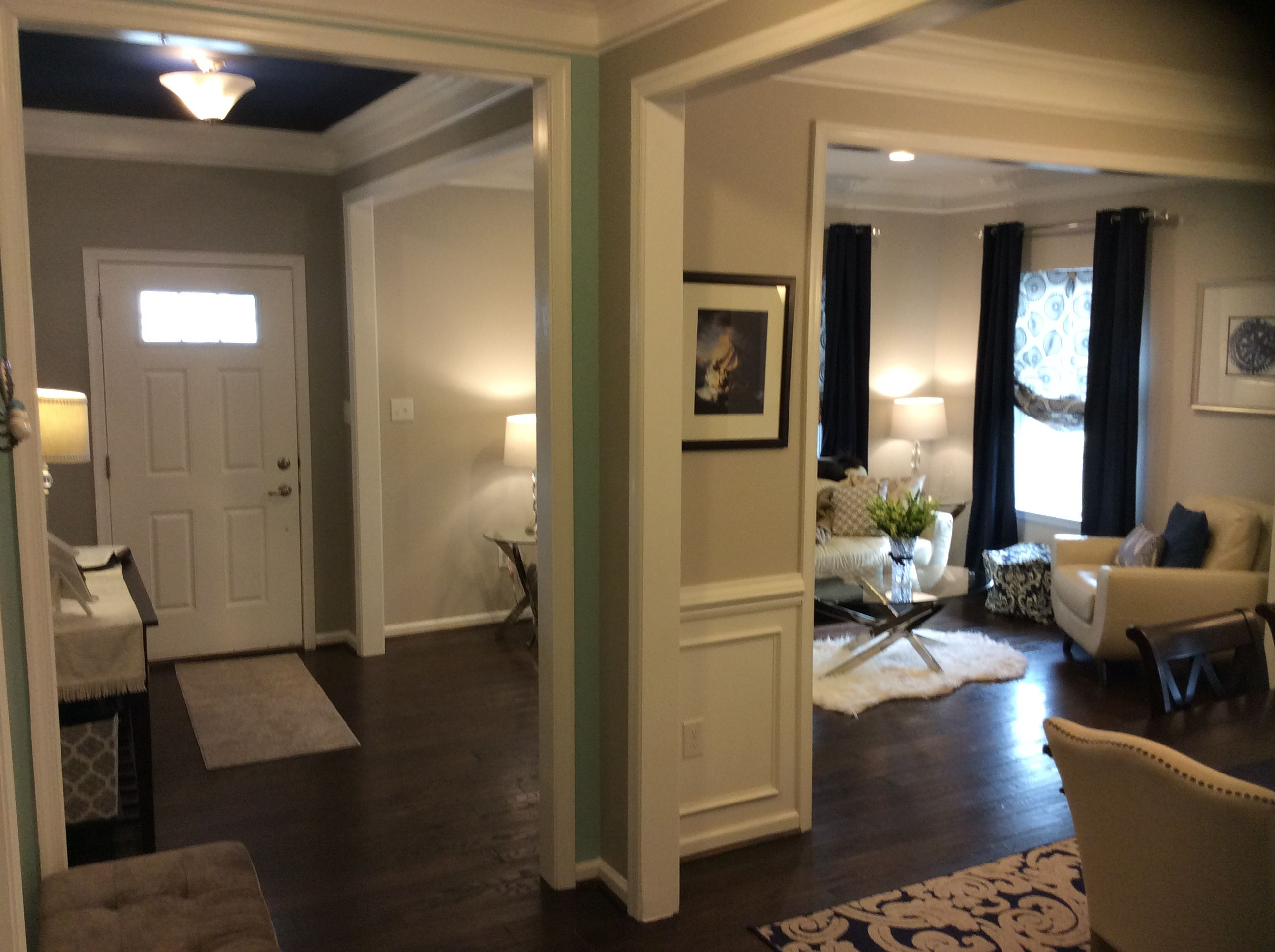 ryan homes rome model foyer, entryway, formal living room and