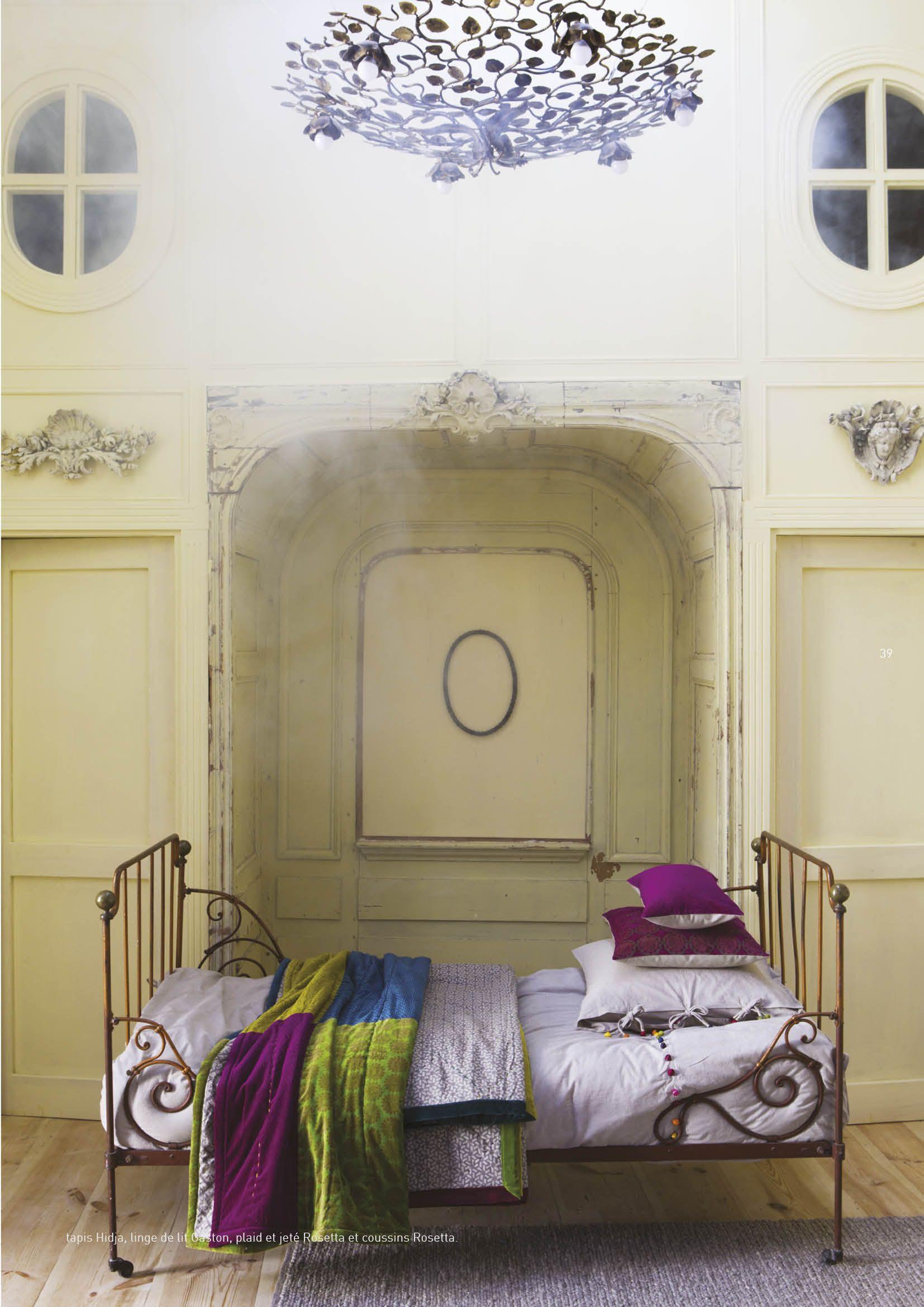 plaid linge de lit Tapis Hidja, linge de lit Gaston, plaid et jeté Rosetta et  plaid linge de lit