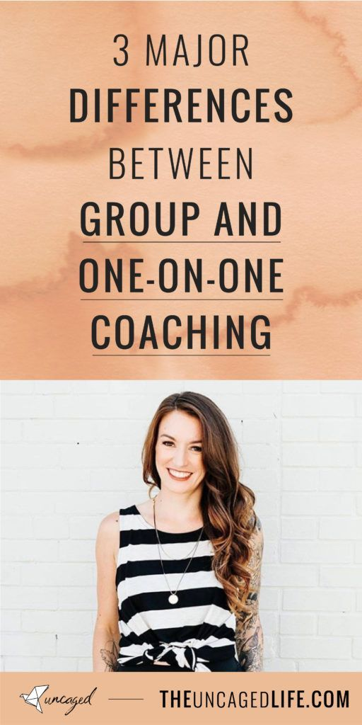 3 major differences between group and one-on-one coaching #lifecoachingtools