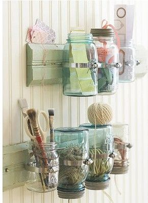 I love the blue jars with the zinc lids!