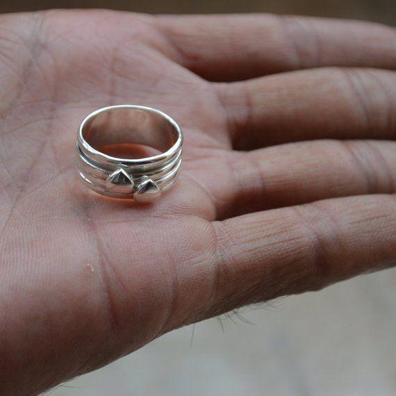 ddde7e2451ed8 Silver Heart 925 Sterling Silver Ring,Handmade Plain Silver Ring ...
