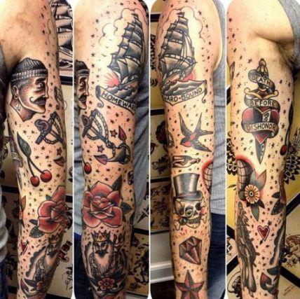 46+ Ideas for tattoo old school vintage life   Sleeve ...