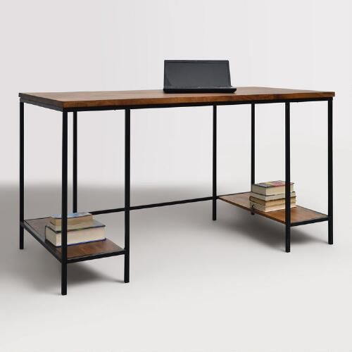 The Clean Simple Design Of Our Contemporary Desk Makes It A Versatile Addition To Any Work Area With A Black Metal Home Office Accessories Interior Furniture