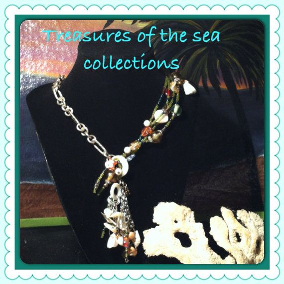 Treasures of the sea. 20 silvertone chain with by Before2After, $30.00