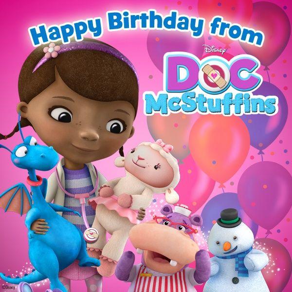 Doc Mcstuffins Birthday Doc Mcstuffins Birthday Cards Pinterest