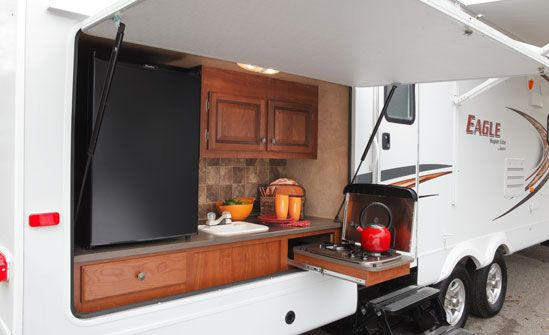 This Is The Outside Kitchen Of My Camper  Décorchristine Fair Travel Trailer With Outdoor Kitchen Inspiration Design