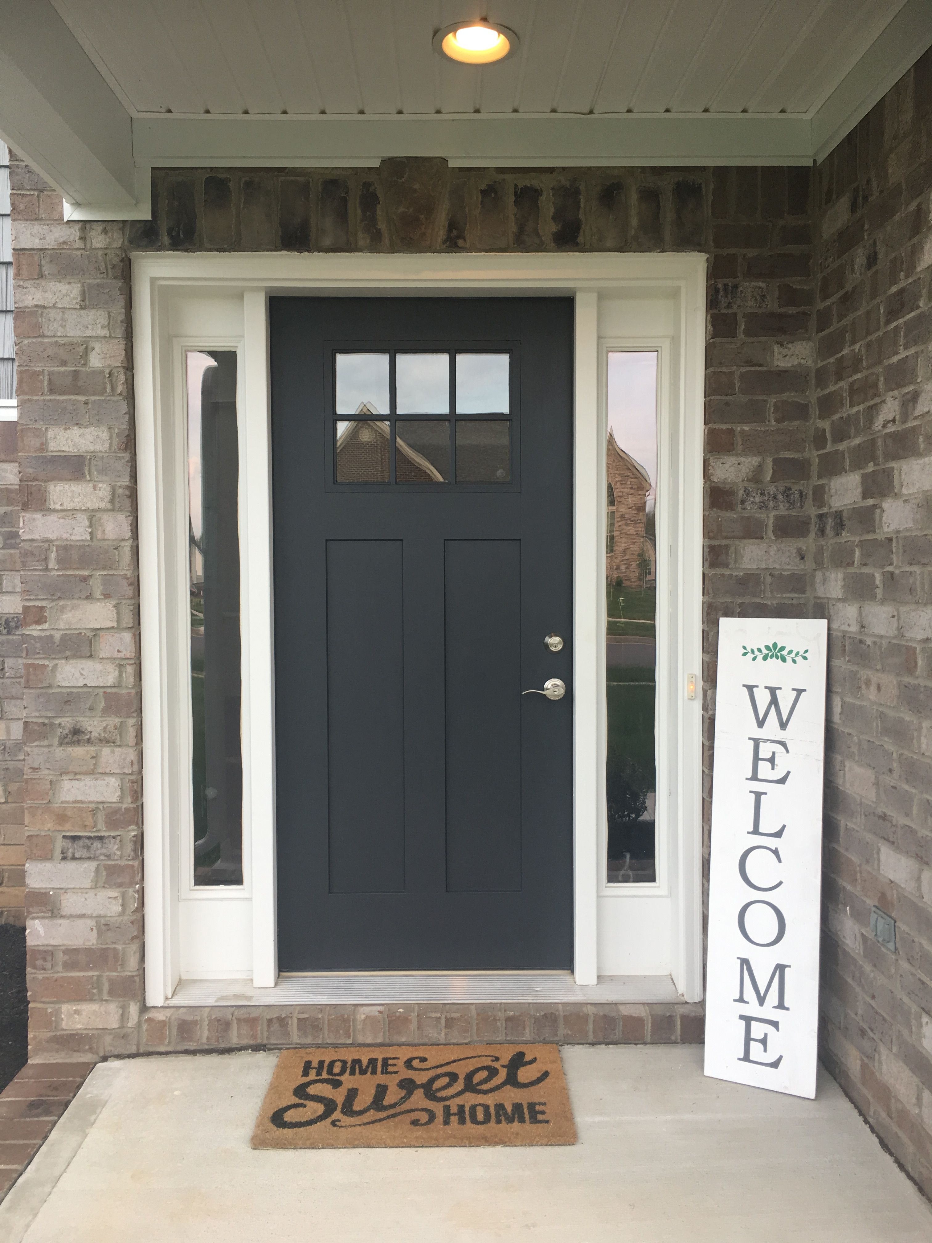 Benjamin Moore Wrought Iron New Front Door Color With Images