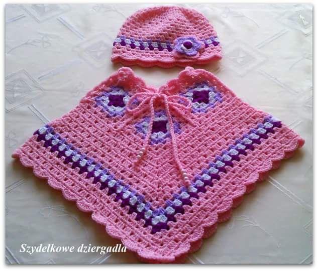 Galería: 31 Fotos de Capas y Ponchos para niñas a Crochet | CTejidas ...
