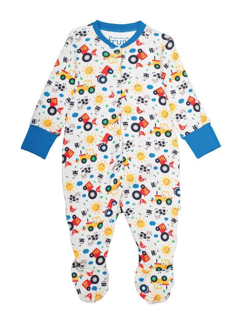 1f77bcf34 Frugi - Organic Cotton - Lovely Babygrow - Farm Friends – Baby Gift ...