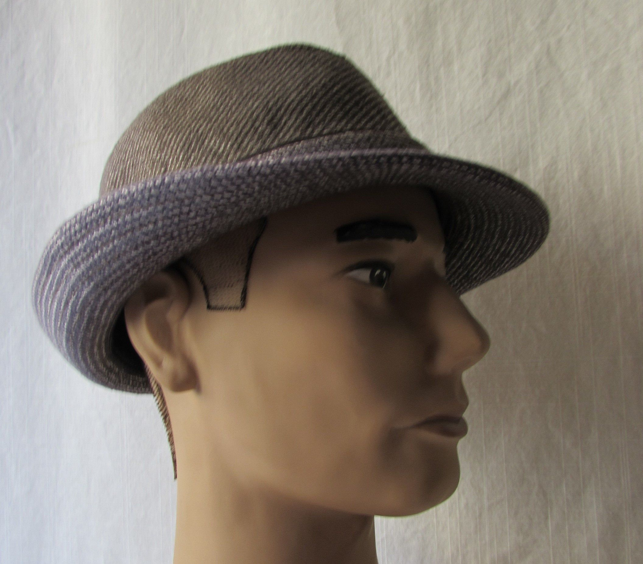 Photo of HAT Fedora size L/XL Brown tweed fully lined UBI hats Rocker Photo Shoot