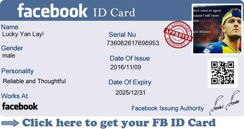 Create Your Facebook Id Card Now    Places to Visit