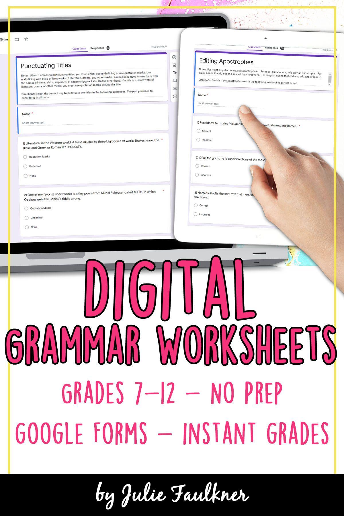 Digital Grammar Exercises In