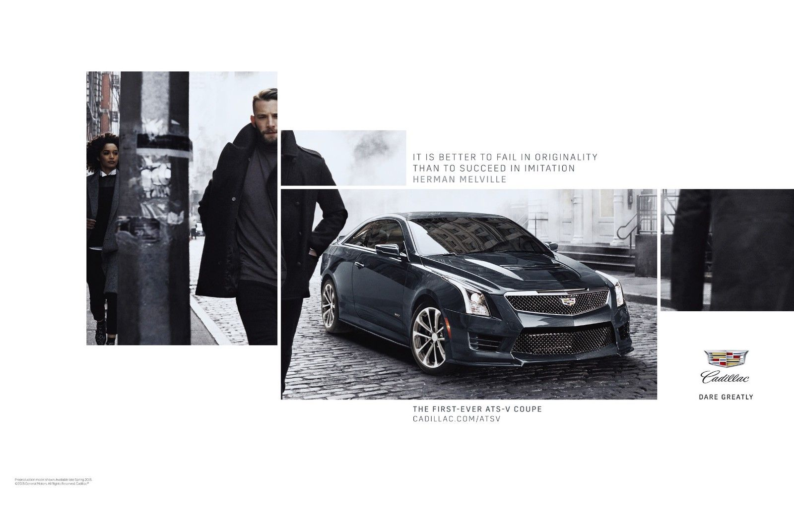 Cadillac ATS-V Coupe Automobile Advertising | Automobile ads ...