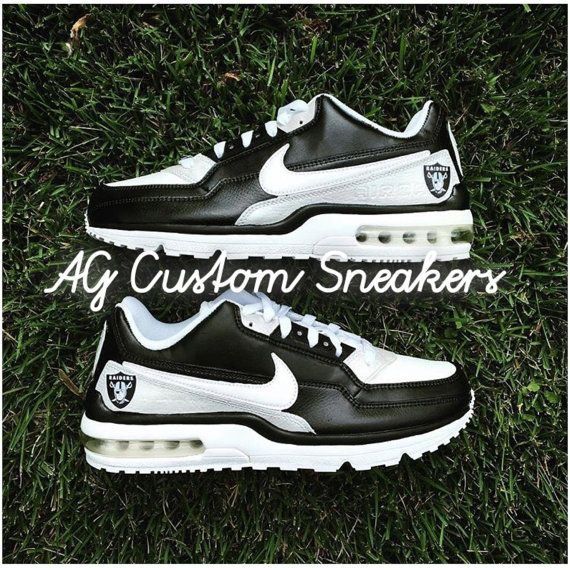 b693a8f863fa Custom Oakland Raiders Nike Air Max Sneaker