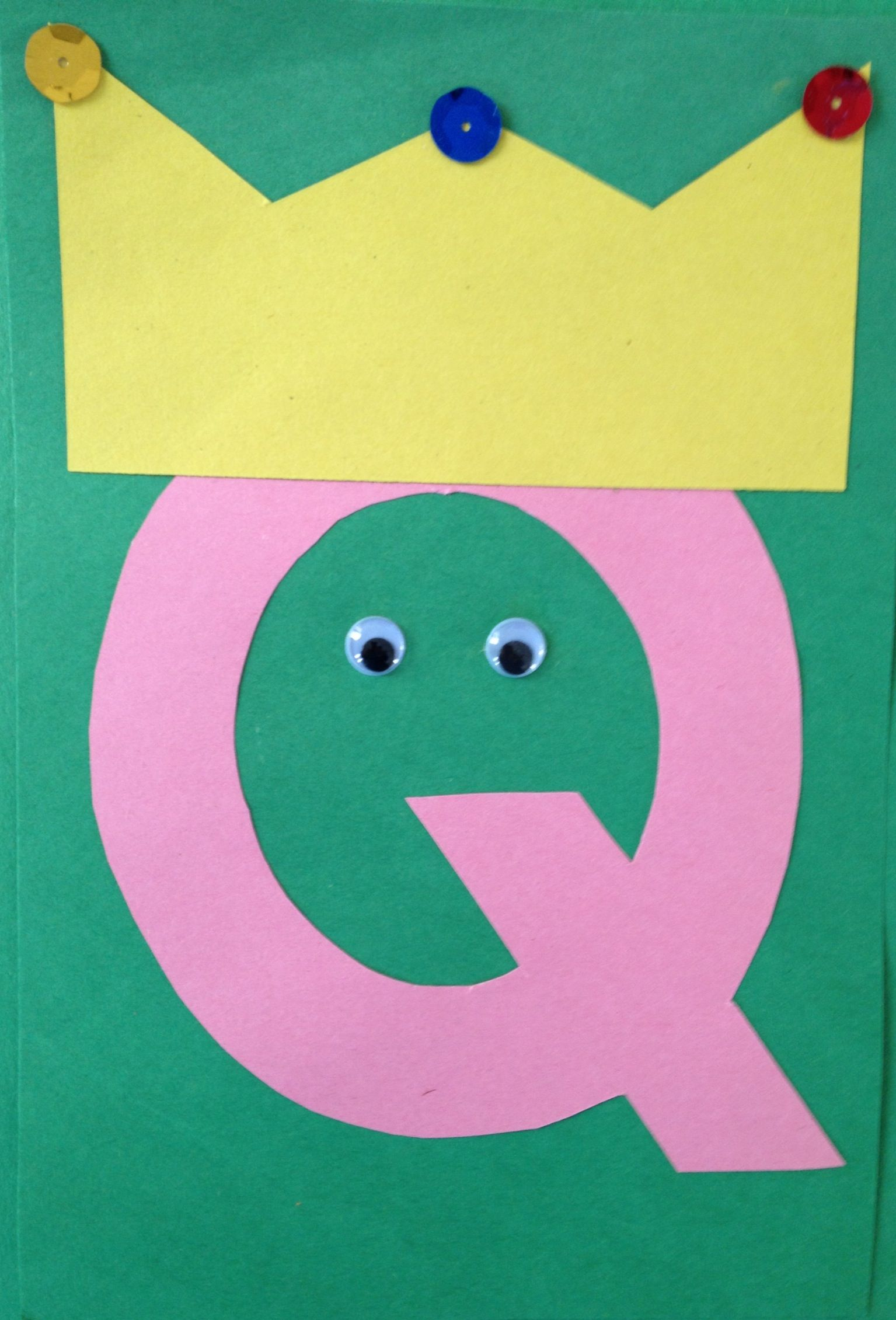 Letter s arts and crafts for preschoolers - Preschool Letter Q Craft