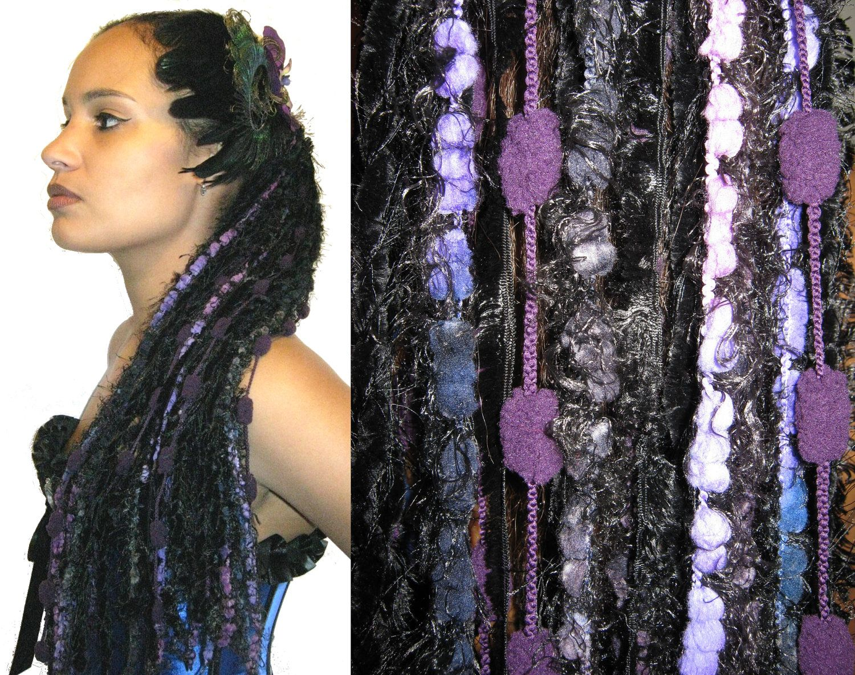 Goth Yarn Hair Falls Northern Lights Tribal Fusion Haarschmuck