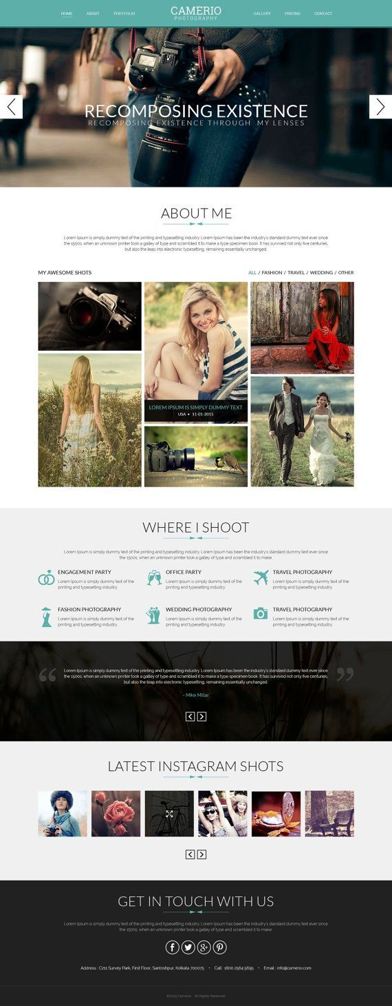 Photographer Portfolio Template, WordPress Website, Portfolio Website, Photographer Portfolio Theme, Website Design, WordPress Web Template. If you like UX, design, or design thinking, check out theuxblog.com