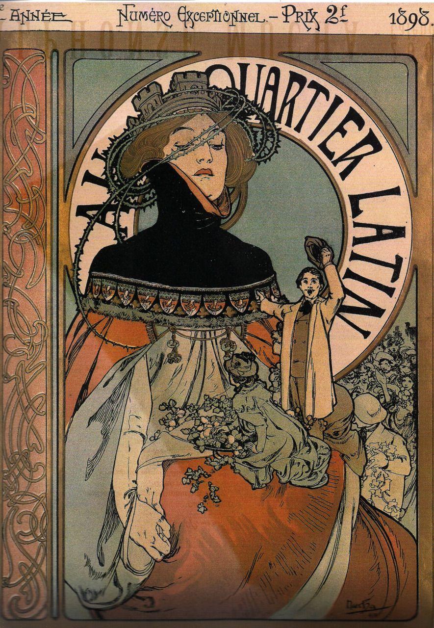 Au Quartier Latin by Alphonse Mucha, 1898