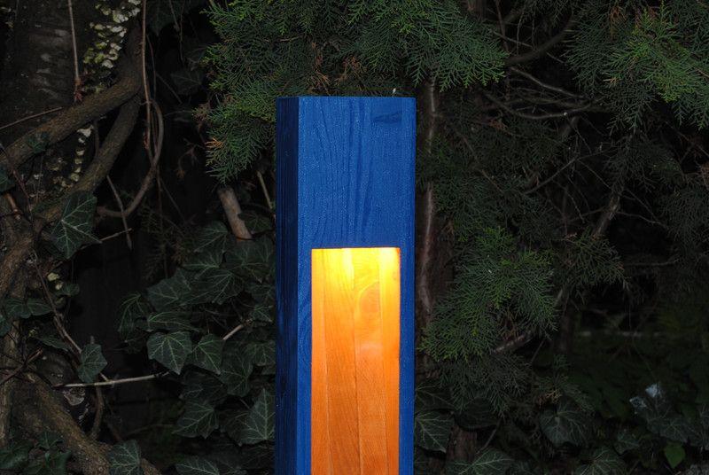 Lampa drewniana ogrodowa, zewnętrzna  - Przemyslaw653 - Oświetlenie zewnętrzne