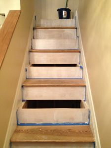 Best Refinishing Stairs Staircase Remodel Pine Stair Treads 400 x 300