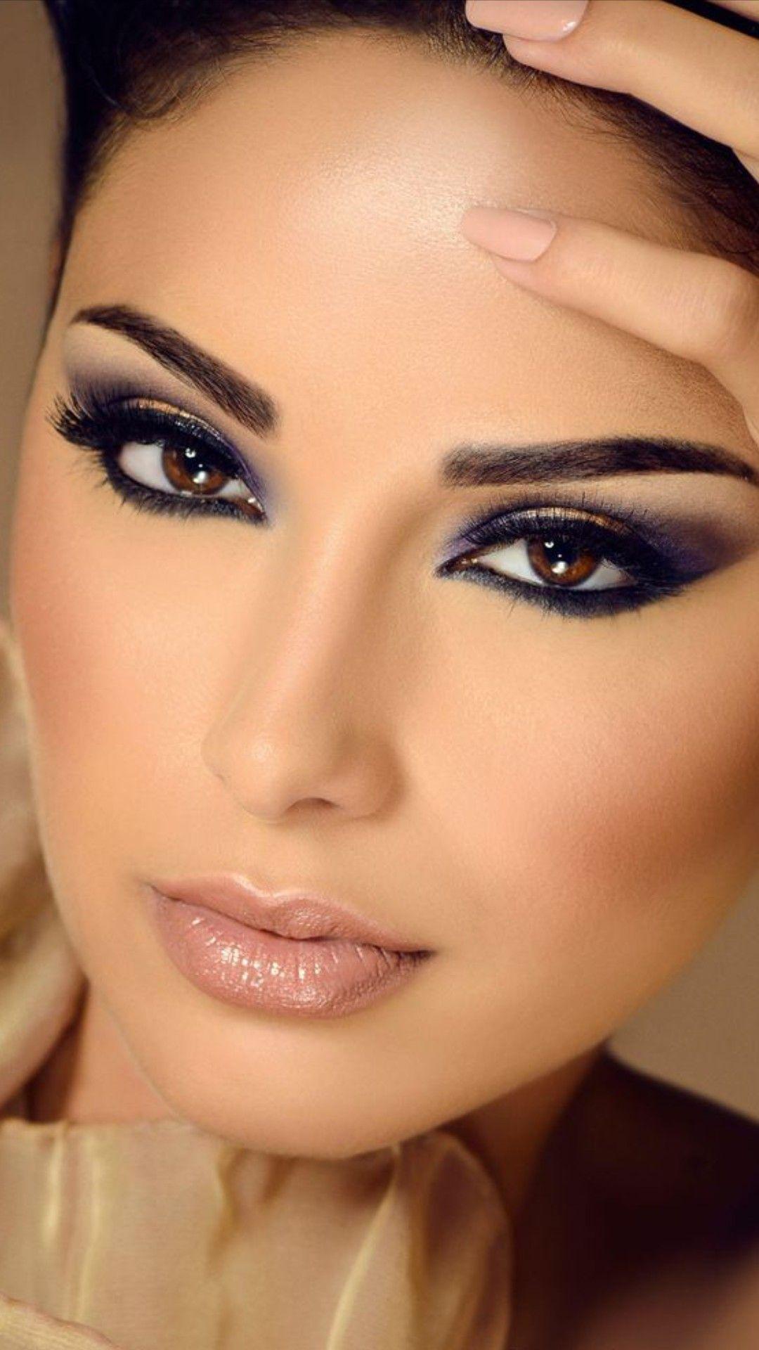 مكياج عرايس 2014 مكياج خليجي عيون مكياج عيون اسود ولبني طريقة تركيب رموش Beauty Bar Beauty Make Up