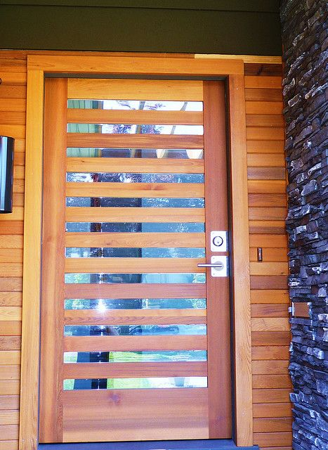 New Front Door Closeup P1020337 Wood Exterior Door Contemporary Front Doors Modern Entry Door