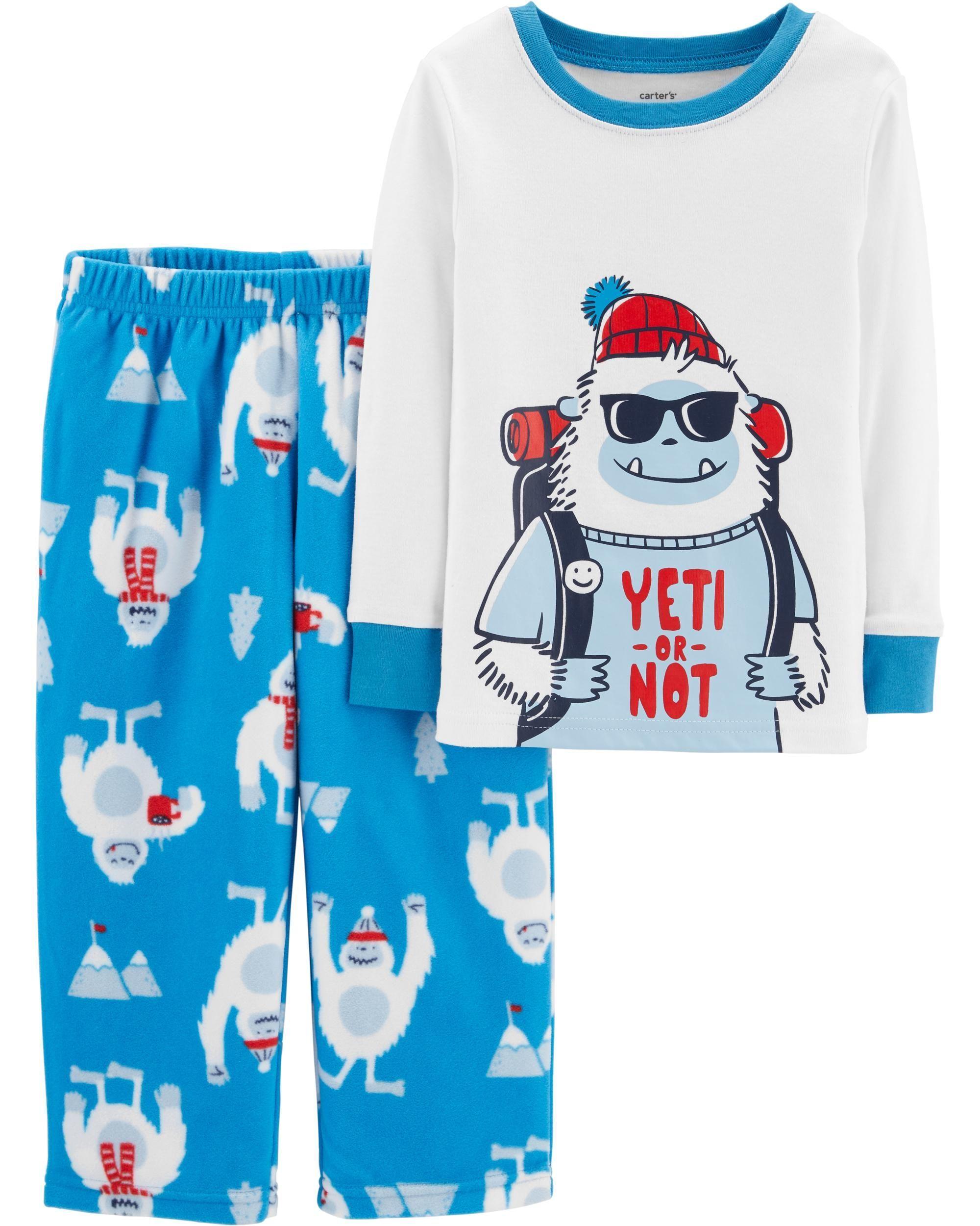 13bfd06388c4 2-Piece Yeti Cotton   Fleece PJs