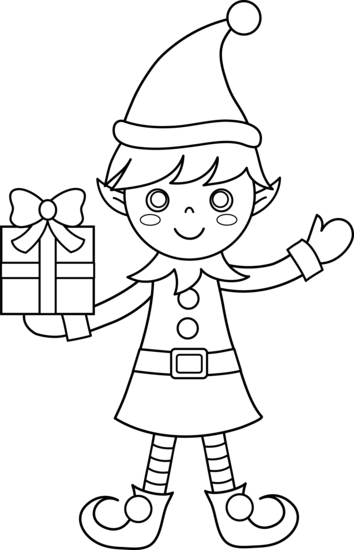 Click On The Below Best Printable Christmas Elf Coloring Pages To Download And Fill