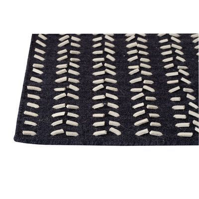 "Hokku Designs Hilldale Black/White Area Rug Rug Size: 8'3"" x 11'6"""