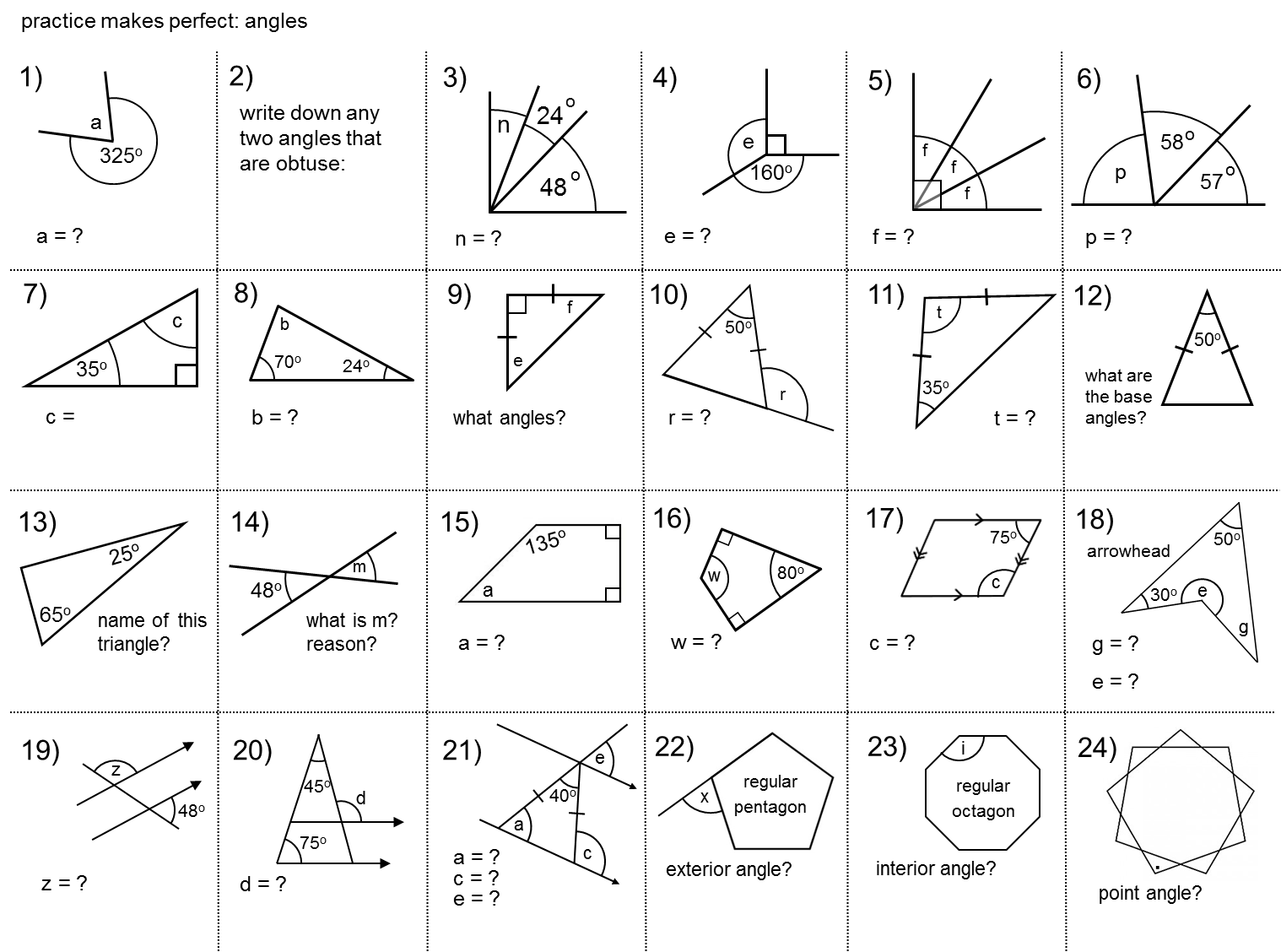 Median Don Steward Secondary Maths Teaching Angles