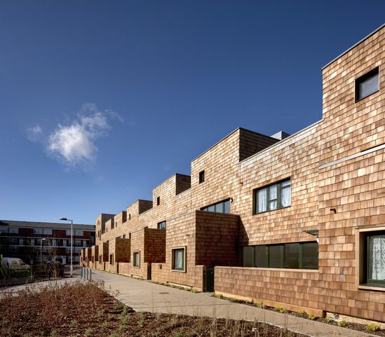 Best Cedar Shingle Cladding For Social Housing Development 400 x 300