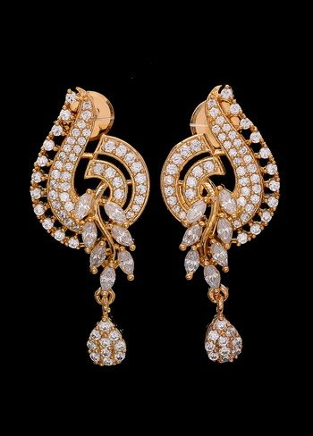3871b7aec Exclusive Designer Earrings with Marquise American Diamonds | Updo ...