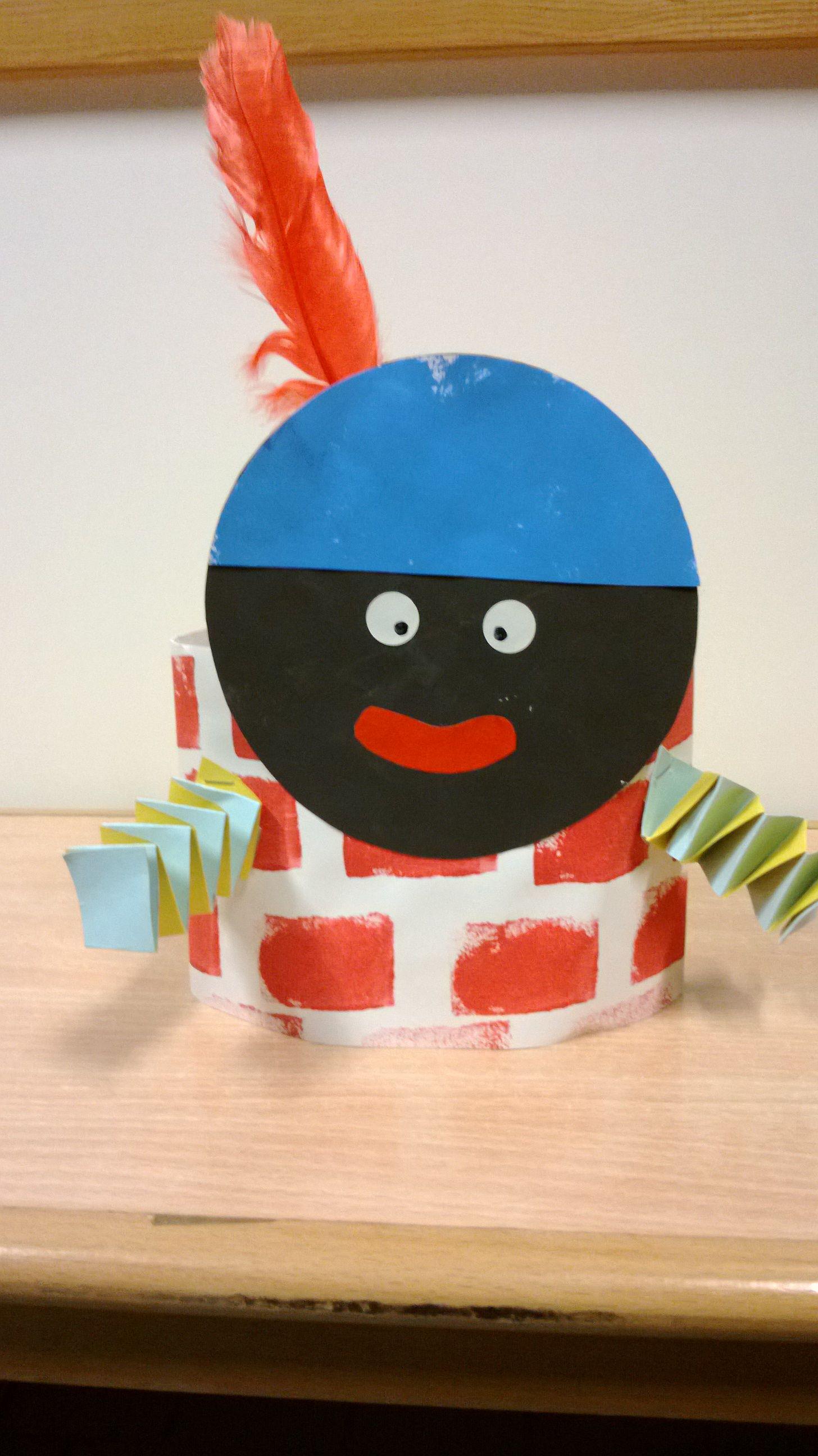 Kroon zwarte Piet #zwartepietknutselen