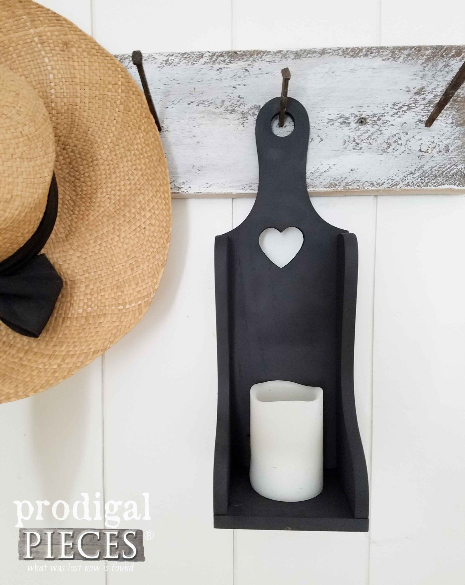 Farmhouse Candle Holder Utensil Holder