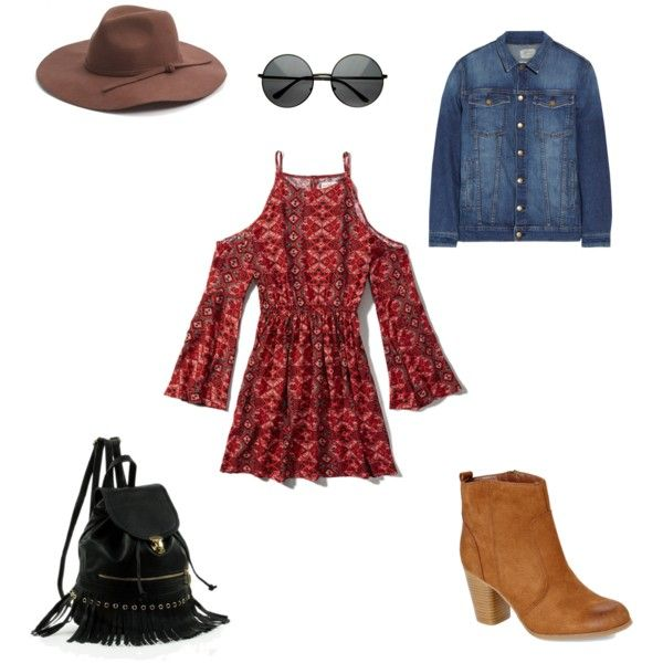 That October feel  by ramesha-takal-williams on Polyvore featuring polyvore, fashion, style, Abercrombie & Fitch, Current/Elliott, Madden Girl and Phase 3