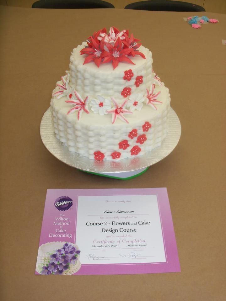 My Final Cake For Wiltons Course 2 Class Wiltoncontest